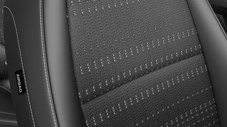 Tekstiliniai sėdynių apmušalai, juodi